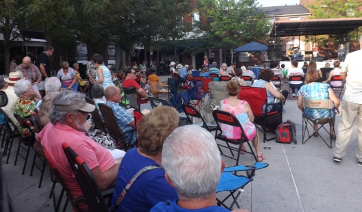 The audience for Concert on the Square.  (Staff photo by Mariann Hyslop)