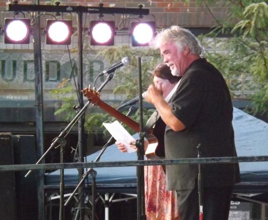 Gary Morris on stage in Gallatin, Tenn.  (Staff photo by Mariann Hyslop)