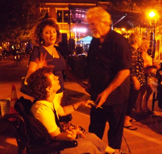 Gary Morris talks to fans after the concert.  (Staff photo by Mariann Hyslop)