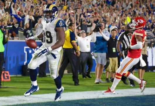 Second year running back Malcolm Brown scored the Rams' final touchdown. (Los Angeles Rams Photo)
