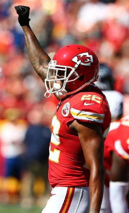 Chiefs defensive back Marcus Peters prevented a Seahawk touchdown in their opening drive with an interception from quarterback Russell Wilson at the 1 yard line. (Kansas City Chiefs Photo)