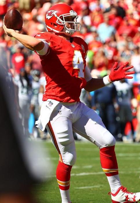 Nick Foles was the first backup quarterback to play Saturday. (Kansas City Chiefs Photo)