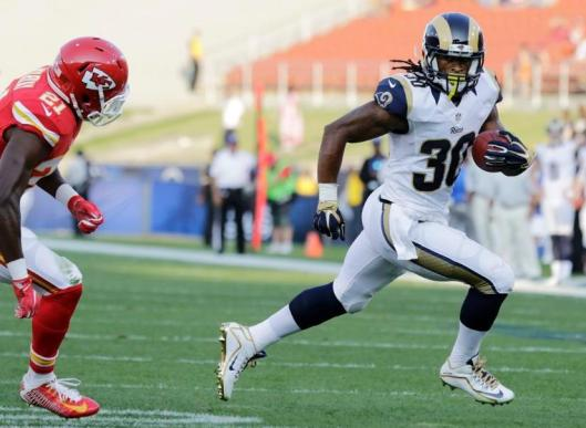 Running back Todd Gurley scored the first Rams touchdown. (Los Angeles Rams Photo)