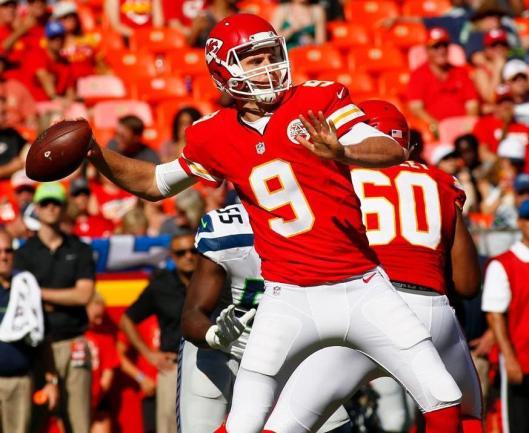 Tyler Bray succeeded Nick Foles in the quarterback job Saturday. (Kansas City Chiefs Photo)