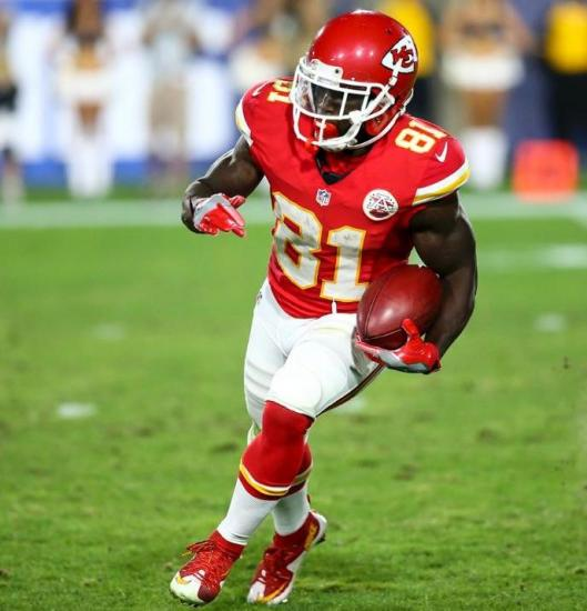 Rookie wide receiver Tyreek Hill runs with the ball. (Kansas City Chiefs Photo)