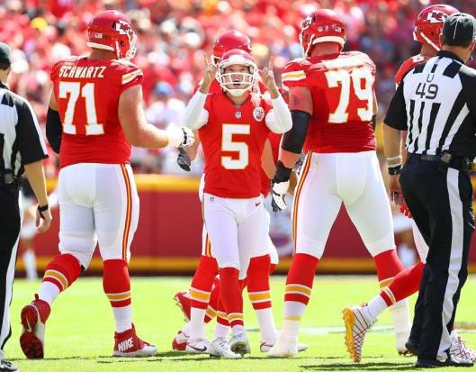Cairo Santos scored the first Chiefs points Sunday with a field goal. (Kansas City Chiefs photo)
