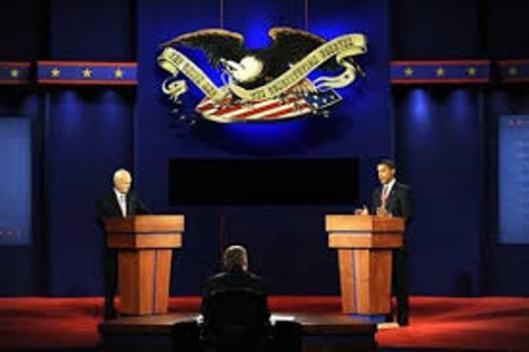 Sen. John McCain and Sen. Barack Obama in a 2008 presidential debate.