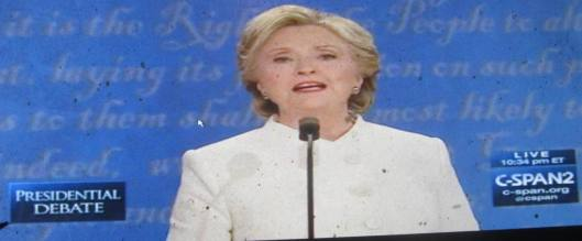 Hillary Clinton speaks. (Hill 'n Holler photo from C-SPAN live stream)