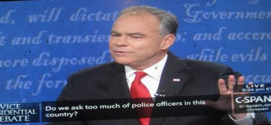 Tim Kaine speaks. (Hill 'n Holler photo from C-SPAN live stream)