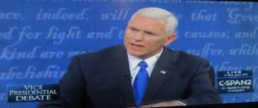 Mike Pence speaks.  (Hill 'n Holler photo from C-SPAN live stream)
